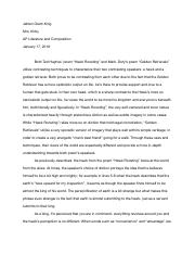 hawk roosting golden retrievals essay