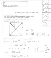 Math 2415 Midterm Version 1 and Solutions