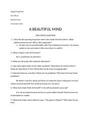 A BEAUTIFUL MIND Discussion Questions (1)(1).docx