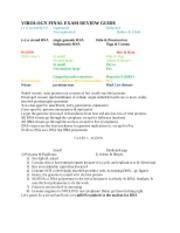 Virology Final EXAM review sheet