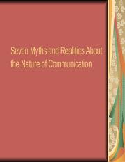 Seven Myths and Realities About the Nature of