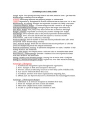 Accounting Exam 3 Study Guide