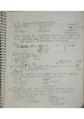 Implicit Differentiation Notes