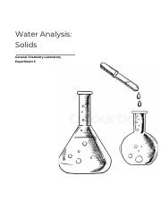 REPORT 5 pdf - Water Analysis Solids General Chemistry