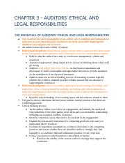 CHAPTER 3 - AUDITORS' ETHICAL AND LEGAL RESPONSBILITIES.docx