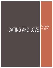 Dating and Love
