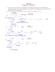 Problem set 2 Answers - SN2 SN1 E1 E2 reactions