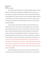 His 114 second essay- Primary source paper
