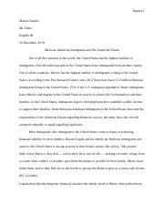 Mexican Immigrants Research Essay