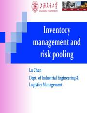 04. Inventory management and risk pooling