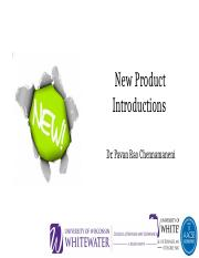 New Product Introductions
