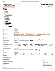 Trigonometry Problems - NORMAL Problems with Solutions.pdf