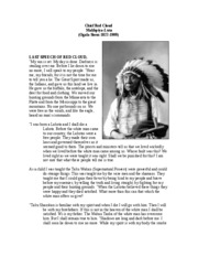 Chief Red Cloud_Last Speech