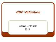 5 - Wed Sept 3 - DCF Valuation