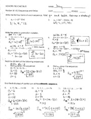 Arithmetic Sequence Worksheet And Answers - Worksheets
