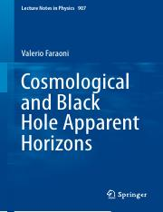 LNP0907 Valerio Faraoni (auth.) - Cosmological and Black Hole Apparent Horizons (Springer Internatio