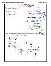 4.3 derviative of Inverse functions