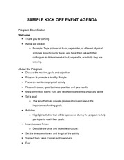 Special Event Management Kickoff_Agenda