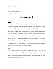 Khanh Bao Diep ( Kate) - Business Law- Assignment 2.doc