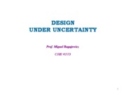 Design under uncertainty