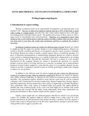 Writing Engineering Reports