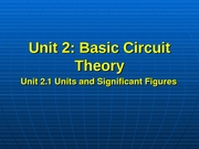 EE 302 - Lecture Slides - Unit_2[1].1___Units_and_Signficant_Figures