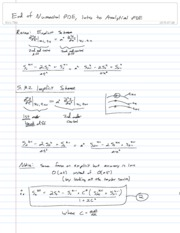 28-End of Numerical PDE, Intro to Analytical PDE
