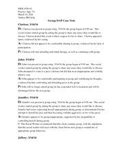 Dap Note   Group Dap Case Note 7 6 Prac App Swk455001 Practiceapp 7 6 March14