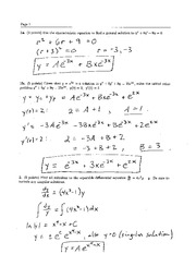 Final Exam Solution Spring 2004 on Ordinary Differential Equations