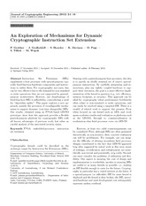 An Exploration of Mechanisms for Dynamic 2