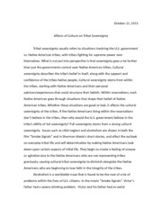 Examples Of A Thesis Statement For An Essay  Pages Dsoc Essay  Essay On Healthcare also Catcher In The Rye Essay Thesis Dsoc Essay   Dsoc  The Marshall Trilogy Impacts Tribal  Personal Essay Examples For High School