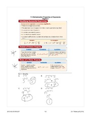 Properties of Exponents notes