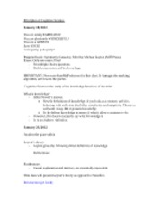 Principles of Cognitive Science Notes
