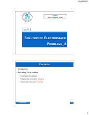 Lec 10 Solution of Electrostatic Problems_2 pdf - EE 303