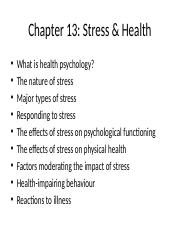 Chapter+13+Stress++Health