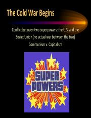 Origins of the Cold War (1)