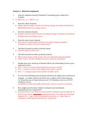 Elasticity Assignment Exampleas and Answers