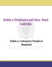 Module 2.1_Contemporary Principles of Management