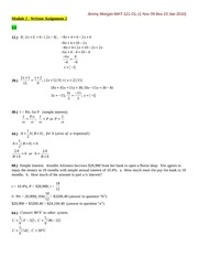 MATH 121 - WRITTEN EXERCISES-MODULE 2