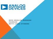 PRESENTASI ANALOG DEVICES
