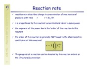 Reaction Rate and Quotient Notes