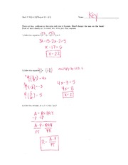 Math 115 Quiz 2 Key on Algebra