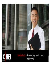 CHFI v4 Module 51 Becoming an Expert Witness