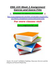 ENG 225 Week 2 Assignment Genres and Genre Film.doc