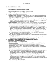 Federal Jurisdiction Outline