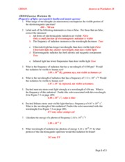 worksheet_19_A11_Answers - CH1010 Answers to Worksheet 19 CH1010 ...