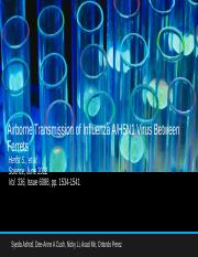 Airborne Transmission of H5N1 Final Copy (1).pptx