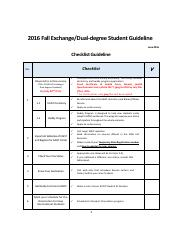 1. Guideline_2016 Fall Exchange & Dual-degree Students