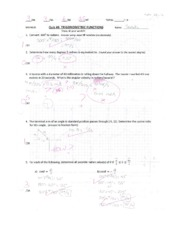 Trig Functions Quiz