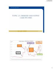 TOPIC 2.5 - DEMAND AND SUPPLY CASE STUDIES - STUDENT VERSION  - TC